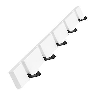 tre vegg folding frakk krok hvit 5 kroker 50x5.5cm