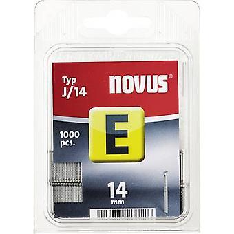 Nagel E J 14 (100 St) 1000 PC('s) Novus 044-0073 Clip Typ J/14 afmetingen (L x W) 14 x 1.2 mm