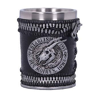 Slipknot Shot Glass Flaming Goat Skull Band Logo new Official Black Boxed