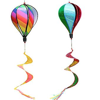 Hot Air Balloon Toy Windmill Spinner For Garden Lawn Yard Outdoor Party