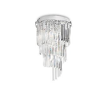 Ideale Lux Carlton - 8 Licht plafond licht kroonluchter Chroom, E14