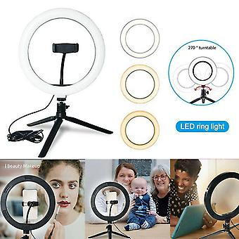 Ring Light With Stand - Caméra Selfie Light Ring For Iphone Tripod (1pcs)