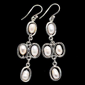 Cultured Pearl Earrings 2 1/2
