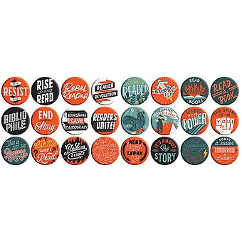 Rebel Readers Button Box by Publisher & Gibbs Smith