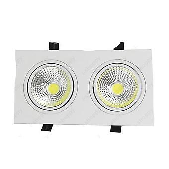 Led Verzonken Licht - Dubbele kop, grille lamp witte shell