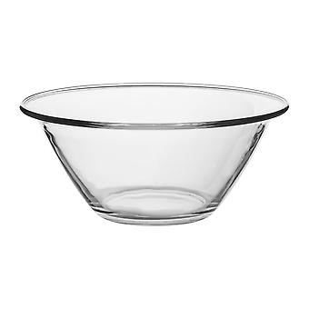 Bormioli Rocco Mr Chef Glass Nesting Mixing Bowl - Heavy Duty, Dishwasher and Microwave Safe - 2.5L