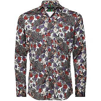 Guide London Slim Fit Peacock Shirt