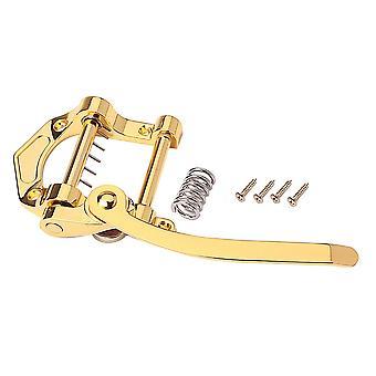 Gitarre Vibrato Tailpiece Tremolo Flat Top Body Vibrato Bridge Gold