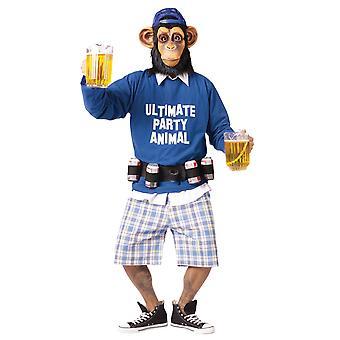 Окончательный партии животных шимпанзе обезьяна Ape гориллы пиво мужской костюм