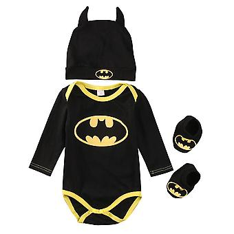 Newborn Baby / Jumpsuit - Batman Rompers Shoes & Hat Outfits Set