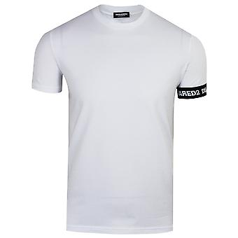 Dsquared2 men's white cuff detail t-shirt