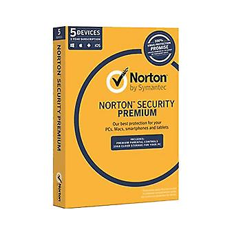 Norton Security Premium Oem Software Single Pack 5 User 1 An License