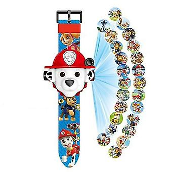 Paw Patrol Digital Watch Projection, 24 Style Cartoon Patterns Time Clock