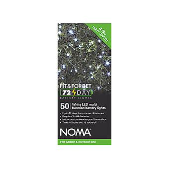 Noma Fit & Forget Multi Function Lights White x 50 6816001GW