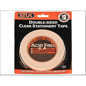STUK Double Sided Tape 24mm x 33m DSST24R