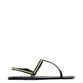 Eddy Daniele Romina133 Women's Yellow Leather Flip Flops