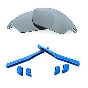 Replacement Lenses Kit for Oakley Fast Jacket Silver Mirror Blue Anti-Scratch Anti-Glare UV400 by SeekOptics