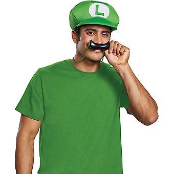 Ny Luigi Hat & Overskæg halskæde - Voksen