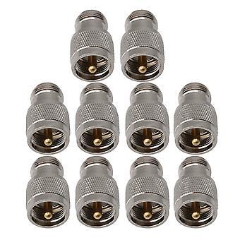 10 πακέτα PL-259 UHF αρσενικό βούλωμα στον θηλυκό προσαρμοστή συνδετήρων γρύλων τύπων Ν