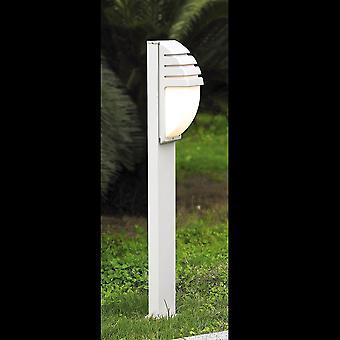 Lampe Bollard moderne Blanc 1 Lumière à l'ombre de lait, E27, IP44