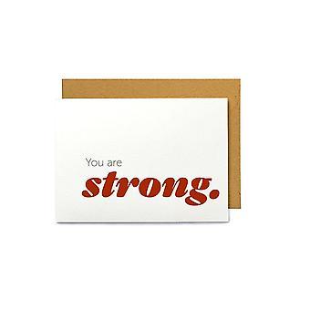 Du er sterk - sympati gratulasjonskort