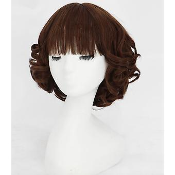Wig Female Long Hair Natural Full Headgear Shoulder-shoulder Pear Flower Head Curly Hair Long Wavy Curly Short Hair Short Curly Hair Set