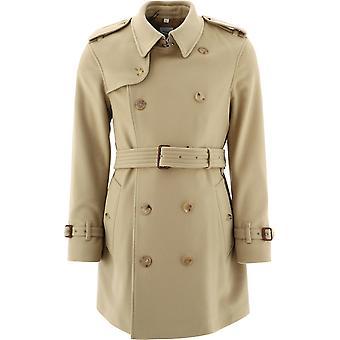 Burberry 8037259 Men's Bege Wool Trench Coat