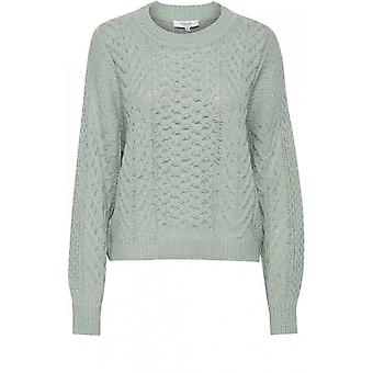 b.young Otinka Blue Cable Knit Jumper
