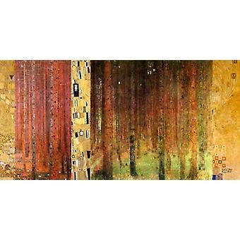 Forest ik Poster Print by Gustav Klimt