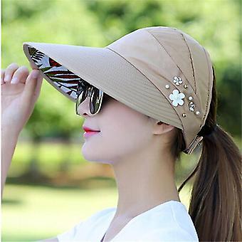 Naiset Aurinkovisiirit Hattu, Fisher Beach Uv Protection Casual Summer Caps