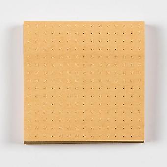 Kawaii Kraft Paper Dot Grid Line Blank Post It Memo Pad