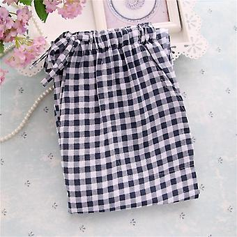 Men's/women Plaid Trousers Casual Sleep Bottoms Sleepwear Pyjama Cotton Pants
