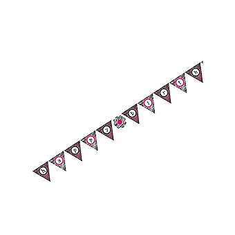 Creative Converting Pink Zebra Boutique Flag Banner