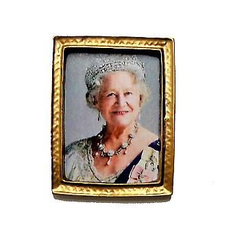 Nukke talo kuningatar äiti Elizabeth muotokuva kuva kulta kehys