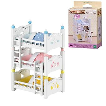 Families Dollhouse Playset, Triple Bunk Beds Accessories, Toy, No Figure