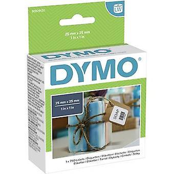 DYMO Label Rolle S0929120 S0929120 25 x 25 mm Papier Weiß 750 Stk. abnehmbare Allzwecketiketten