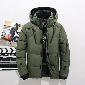 Men High-quality Thick Winter Jacket Hooded Thicken Duck Parka Coat