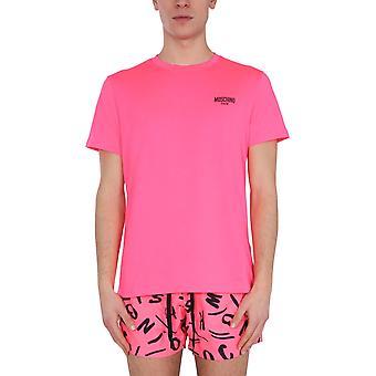 Moschino 191023370206 Männer's Fuchsia Baumwoll-T-shirt