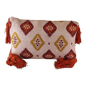 Tasseled Kasbah Design Scatter Cushion, Diamond Pattern