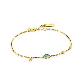 אניה האני-כסף מצופה זהב בגוון דיסקים טורקיז B014-01G