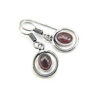 Örhängen örhängen silverpläterade silvergrant röd (922-02-004-02)