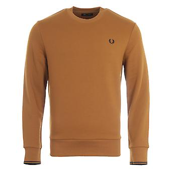 Fred Perry Crew Neck Sweatshirt - Dark Caramel
