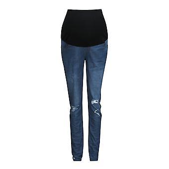 Schwangere Frau ripped Jeans Mutterschaft Hose / Hose