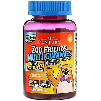 21st Century, Zoo Friends Multi Gummies, Plus Extra C, 60 Gummies