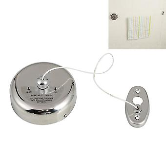 Retractable Indoor Clothes Rope, Wall Mounted Hanger