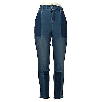 Martha Stewart Mujeres's Jeans Francés Seamed Panel Azul A351150