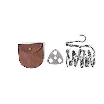 Multifunctional Outdoor Hanging Ring Hook,stainless Steel Portable Triangular Hanging Pot Bracket
