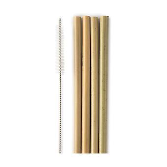 Bamboo Straw with Bottle Brush 4 units