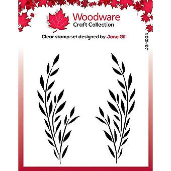 Woodware Clear Postimerkit - Singles - Bethany Leaf