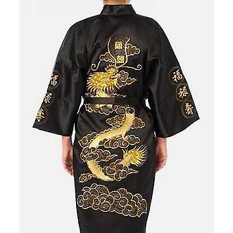 Ricamo Kimono Abito Da Bagno Dragon Taglia